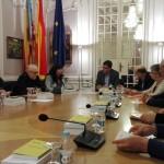 Amb el president de la cambra, Enric Morera
